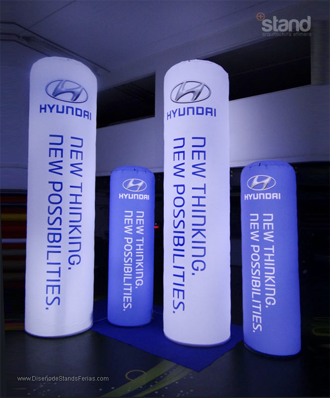 Totems Hinchables Luminosos Hyundai